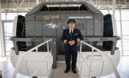 Gulf Air's Acting Chief Executive Officer Visits Etihad Aviation Training Centre in Abu Dhabi