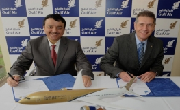 Gulf Air CEO with BE Aerospace CEO.